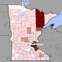 Minnesota Mesothelioma Exposure Map
